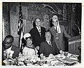 Mayor John F. Collins attends a celebration with the Improved Benevolent Protective Order of the Elks of the World with four unidentified people (12190443234).jpg