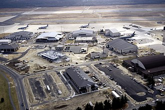 McGuire Air Force Base - An aerial view at McGuire Air Force Base (AFB)