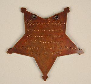 Joachim Pease - Image: Medal of Honor reverse, Joachim Pease (24888422441)