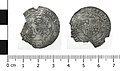 Medieval coin, double briquet of Maria of Bourgogne (Obverse and reverse). (FindID 558839).jpg