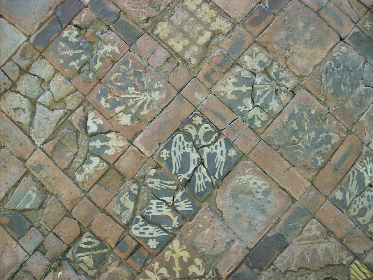 File Medieval Floor Tiles Cleeve Abbey Jpg Wikimedia
