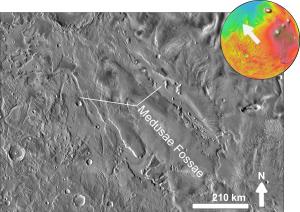 Medusae Fossae Formation - Medusae Fossae based on THEMIS day-time image
