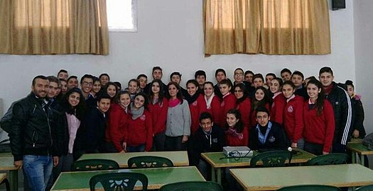 Meeting with Karen Jeppe Armenian College students, Aleppo, Syria. 02.jpg