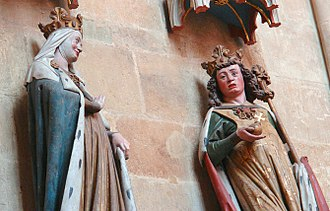 Otto I, Holy Roman Emperor - Statues of Otto I, right, and Adelaide in Meissen Cathedral. Otto and Adelaide were married after his annexation of Italy.
