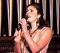 Melanie Shanahan (musician) on stage in Hobart, Australia, April 1995 (Tony Rees photograph).jpg