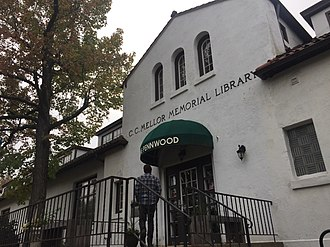 Regent Square (Pittsburgh) - Entrance to the C.C. Mellor Memorial Library