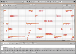 Screenshot von Melodyne studio 4.2