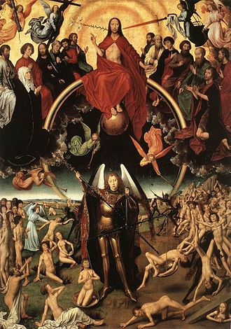 Dies irae - Centre panel from Memling's triptych Last Judgment (c. 1467 – 1471)
