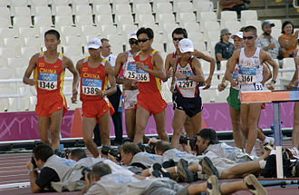 Athletics at the 2004 Summer Olympics – Men's 20 kilometres walk - Initial stage of the race