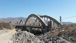 Menemen Gediz Bridge bridge in Turkey