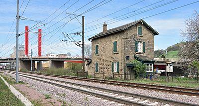 Mersch ligne de chemin de fer et maison natale d'Aloyse Kayser.jpg