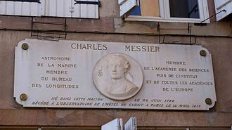 Charles Messier - Commemorative plaque in his hometown of Badonviller