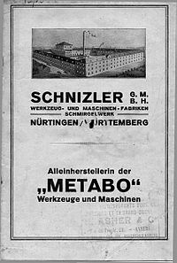 Metabo Catalogue 1930s