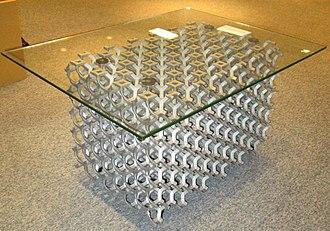Metal foam - Image: Metal foam Coffee table