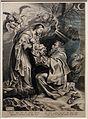 Michel lasne da rubens, visione di san francesco, 1600-37 ca. (haarlem, teylers museum).JPG