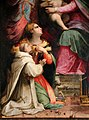 Michele tosini, madonna col bambino incoronata dagli angeli tra le ss. agnese e cecilia e novizi domenicani 05.jpg