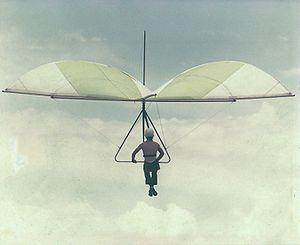 John W. Dickenson - A 'Standard' hang glider, 1975.