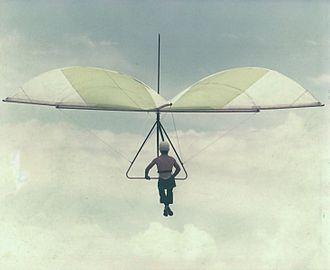 History of hang gliding - 'Standard Rogallo' hang glider. 1975.