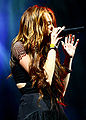 Miley Cyrus during the Wonder World concert in Detroit 9.jpg