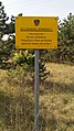 Military training ground Großmittel-warning sign at border-exclusion zone de-ar-9to16 PNr°0507.jpg