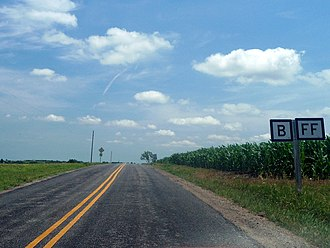 Missouri supplemental route - Image: Missouri Supplemental Routes B and FF, Nodaway County