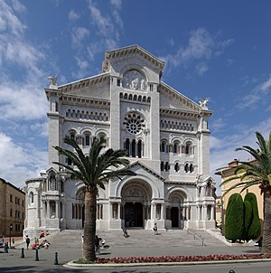 Saint Nicholas Cathedral, Monaco - Facade of the Cathedral