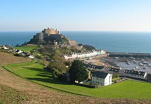 Mont Orgueil and Gorey harbour, Jersey