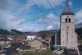 The church and surroundings in Montaillou