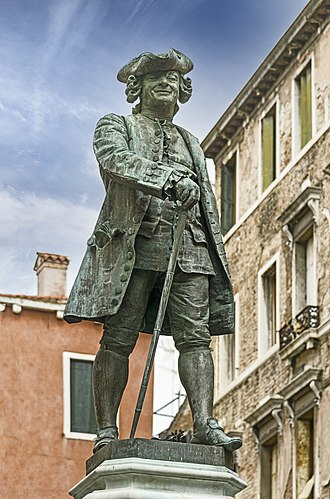 Carlo Goldoni - Monument to Goldoni in Venice (sculpted by Antonio Dal Zotto)