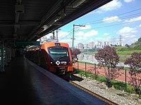Morumbi train station with CAF train.jpg