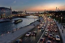 View of the Moska River at dusk