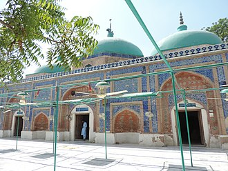 Uch - The mosque of Mahboob Subhani is decorated in the region's vernacular style.