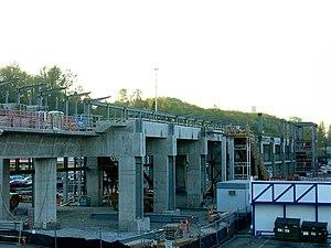 Mount Baker station - Mount Baker station under construction in April 2007