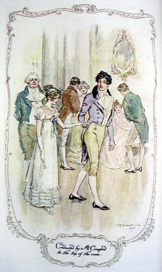Mansfield Park - Fanny, led by Henry Crawford at her celebration ball.