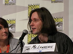 Plankton and Karen - Mr. Lawrence (right) and Jill Talley (left), the voices of Plankton and Karen.