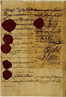 Surat Perjanjian Giyanti dari tahun 1755 yang sekarang disimpan di Arsip  Nasional RI. 85d06a29c2