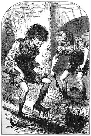 Mudlark - Mudlarks of Victorian London (The Headington Magazine, 1871)