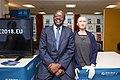 Mukhisa Kituyi with Sophia - AI for Good Global Summit-2018 (40316994040).jpg