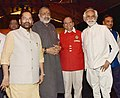 Mukhtar Abbas Naqvi, the Minister of State for Micro, Small & Medium Enterprises (IC), Shri Giriraj Singh and the Chairman, KVIC, Shri Vinai Kumar Saxena at the 'Khadi Fashion Show'.JPG