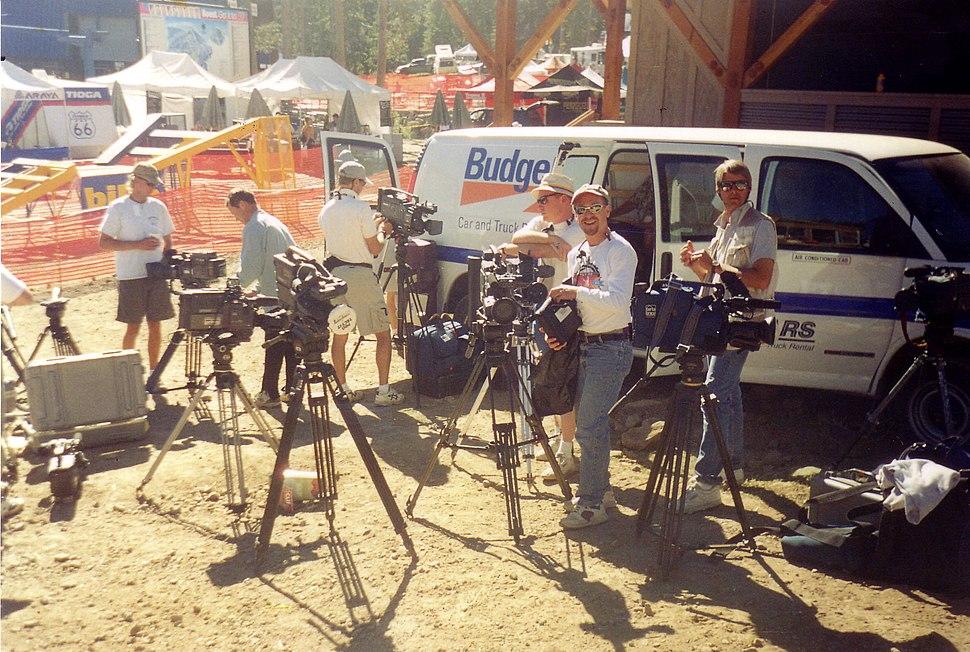 Multi-camera exterior EFP shoot at a BMX Rally, California, 2004
