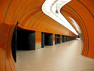 Munich Marienplatz station - Image: Munich subway Marienplatz extension