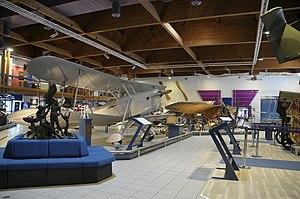 Museo dell'Aeronautica Gianni Caproni Ca.163 and Ca.9.JPG