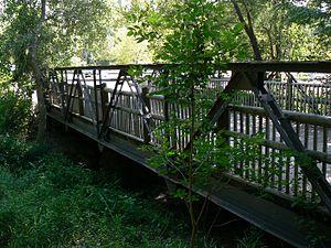 National Register of Historic Places listings in Cass County, Nebraska - Image: Mynard Road Bridge 1
