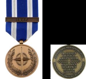 NATO Medal - The NATO ISAF medal