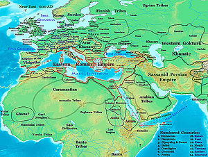 Garamantes - Location of the Garamantes in the Fezzan ca. 600 AD, before the Islamic conquest.