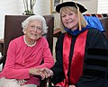 NIU Provost Dr. Susan Studds shakes hands with former First Lady Barbara Bush.jpg