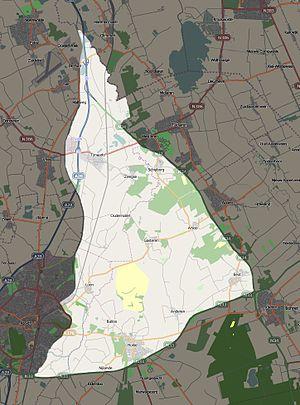 Nationaal beek- en esdorpenlandschap Drentsche Aa - Image: NP Drentsche Aa Kaart