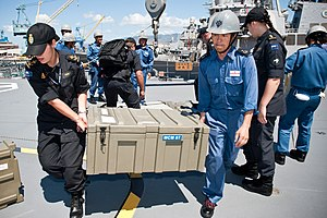 NZ and Japanese sailors on the helicopter deck of JS Bungo, -29 Jun. 2012 a.jpg