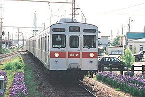 Nagano Electric Railway - An 8500 series EMU