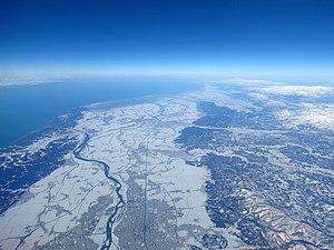 Niigata Prefecture - Niigata Prefecture in winter from the sky